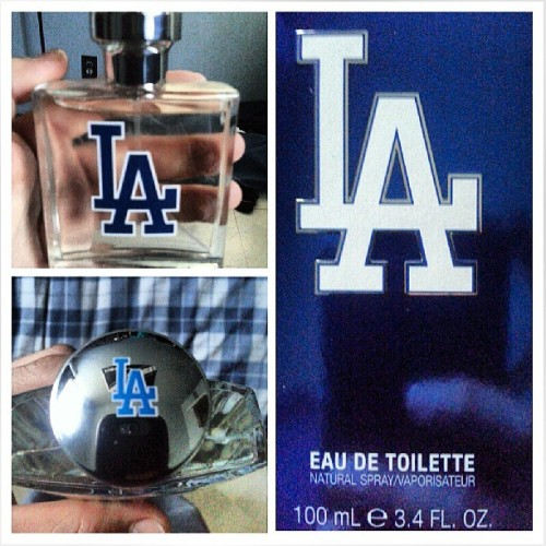 My new #dodgers  #cologne #smellingfresh