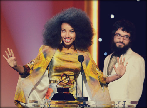 "And The GRAMMY Went To … Esperanza Spalding Album: Radio Music Society Artist: Esperanza Spalding Won for: Best Jazz Vocal Album Previous wins: Spalding has one prior GRAMMY win Did you know?: In addition to Best Jazz Vocal Album, Spalding picked up Best Instrumental Arrangement Accompanying Vocalist(s) honors for ""City Of Roses"" with her mentor, trumpeter Thara Memory, at the 55th GRAMMYs. The song, which is a tribute to Spalding and Memory's hometown, Portland, Ore., is featured on Spalding's Top 10 album, 2012's Radio Music Society. The album was co-produced by Dan Hallas, Zulema Mejias, Q-Tip, and Spalding and features collaborations with Joe Lovano and Lalah Hathaway, among others. The DVD edition of Radio Music Society was nominated for Best Long Form Music Video. Spalding was voted Best New Artist at the 53rd GRAMMY Awards. Spalding will kick off a world tour on March 13 in Singapore with dates scheduled through August."