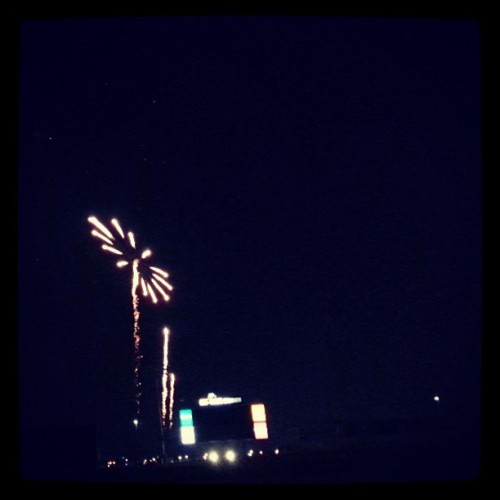 Fireworks from Friday's baseball game.