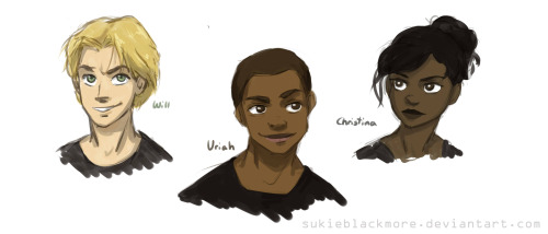 sukieblackmore:  The Characters of Divergent by Veronica Roth Art by sukieblackmore