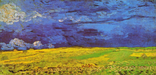 Vincent van Gogh  Wheat Field under Clouded Sky