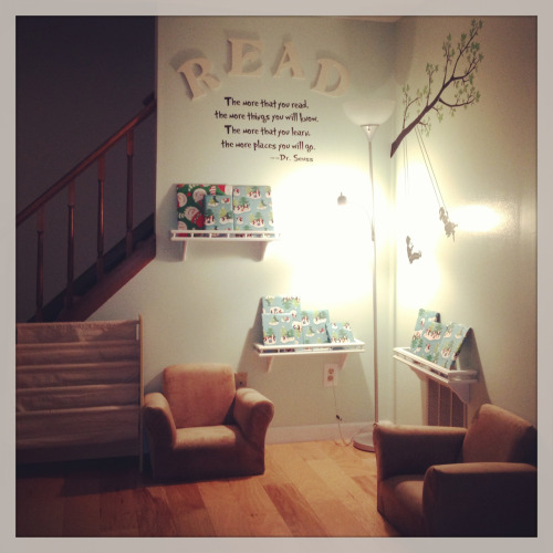 reinha6:  Our family's reading nook.
