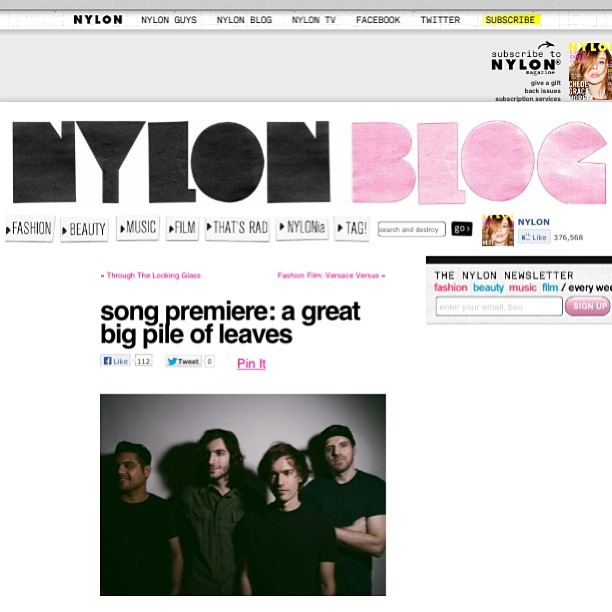 @nylonmag is premiering the first track off of our new record right now! Check it out! http://nylonmag.com/nylonblogs/blog/2013/05/09/song-premiere-a-great-big-pile-of-leaves/