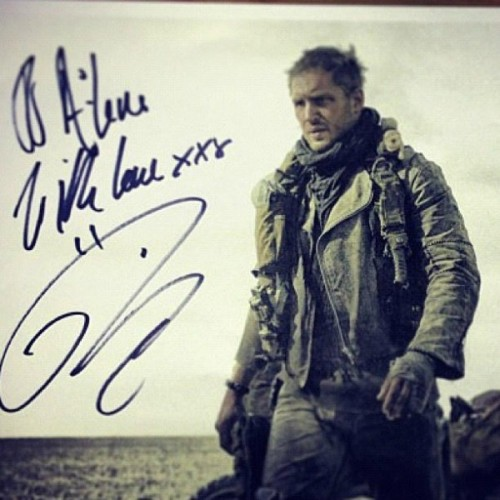 Maybe probably definitely the first image of Tom Hardy as Mad Max?  UPDATE: Warner Bros just confirmed this is the real deal.