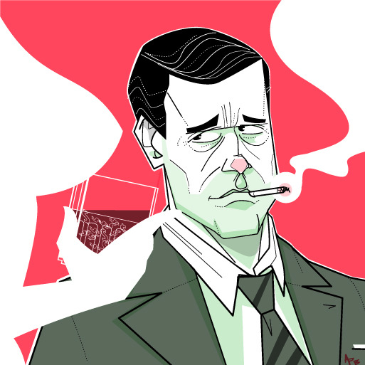 nparts:  Mad Men: In Season 6 of AMC's Emmy-winning series, will Don Draper be able to handle the youth? (Illustration: Andrew Barr/National Post)READ MORE: natpo.st/109fZvn