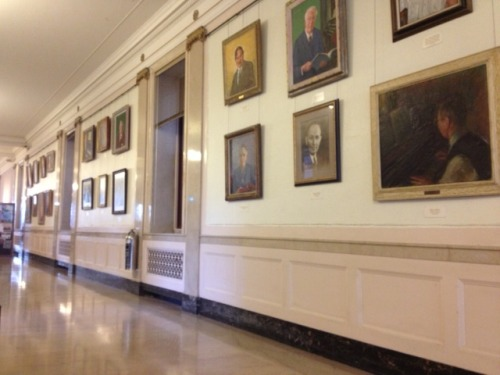Wall of professors at Eastman