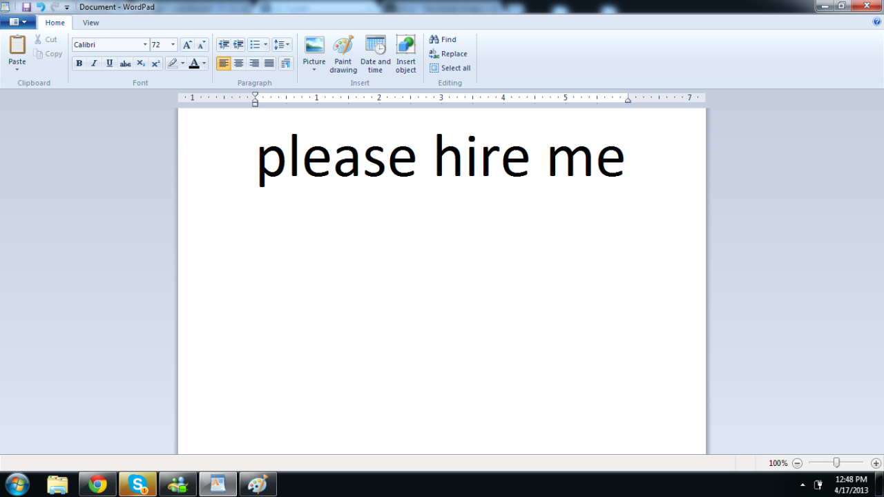 My resume is done