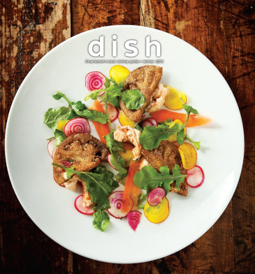 Fresh new issue of Dish out today featuring chicken 'n waffles, umami, pickling, oysters and more!