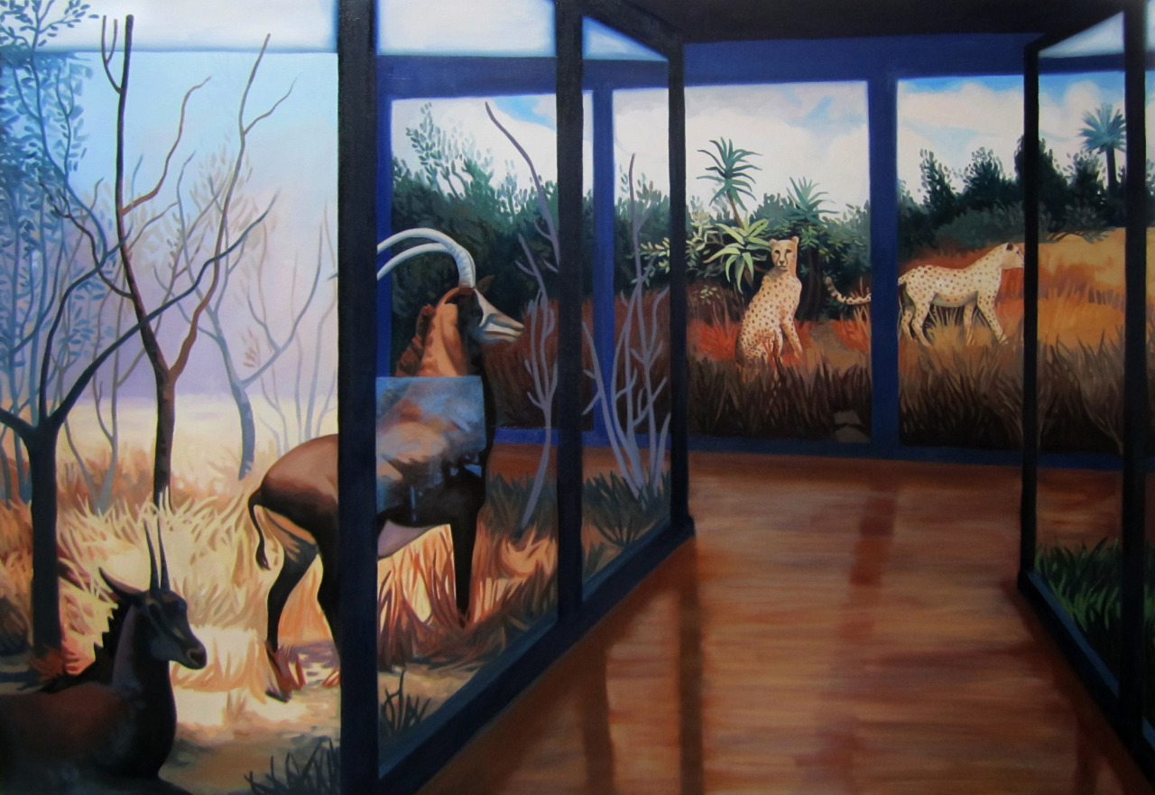 Lina Tharsing, Natural History Museum II, 2011, oil on canvas http://institute193.org/lina-tharsing-natural-history http://linatharsing.com/