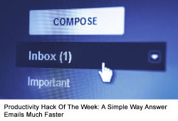 fastcompany:  Turn email into less of a chore with templates of responses and save hours every week. In an age where the workday is seemingly getting longer and longer, every minute counts. So we thought we'd give you some of them back with this week's productivity hack. Read More>