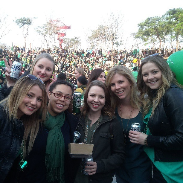 St. Patty's Day party with pretty much all the expats in Seoul. @angalis88 #latepost #somanyforeigners