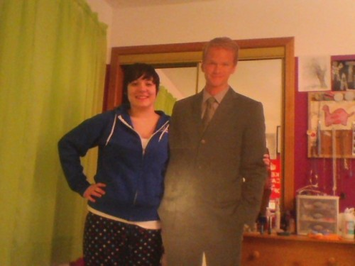 kathyqueenofcats:  Today I got a lifesize cutout of Neil Patrick Harris as a belated Christmas gift.   omg where did they get it :O i want it *giggles*