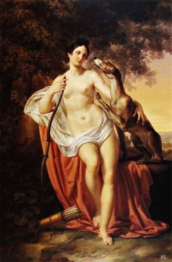 hadrian6:  Portrait of Carlotta Chabert as Diana the huntress. 1835. Pelagio Palagi. Italian. 1775-1860. oil on canvas. http://hadrian6.tumblr.com