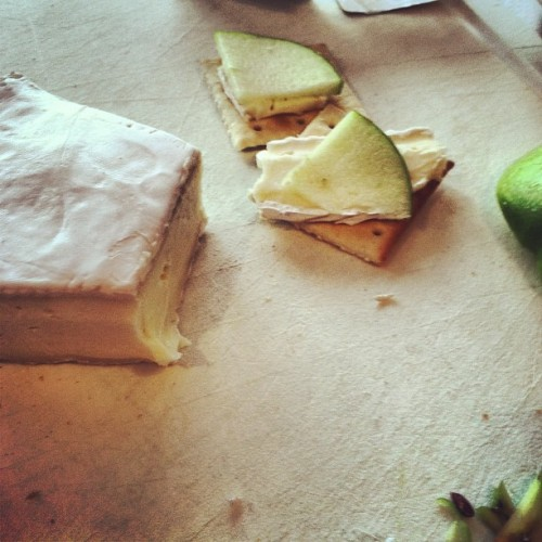 Brie & Apples #yum
