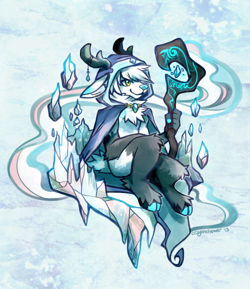 crayonchewer:  Seer of Ice A commission for kousetsufox@FA of Nosivi the Frost Mage!