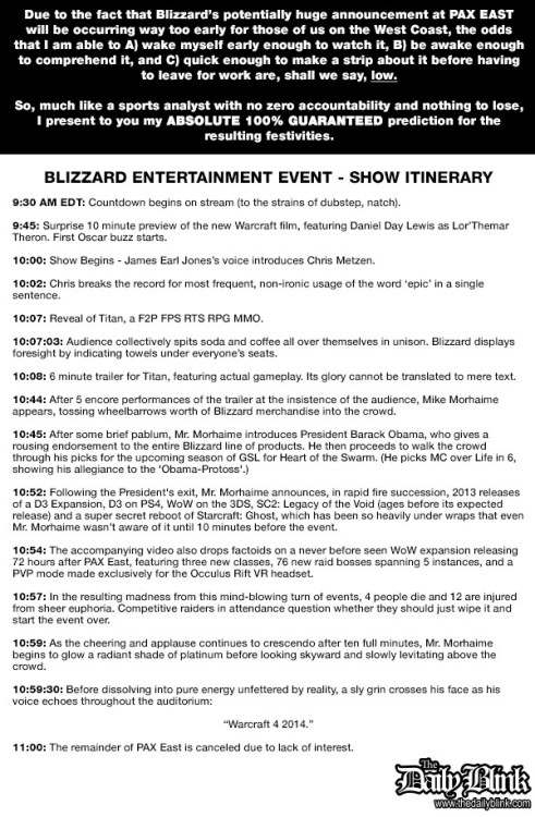The Daily Blink - Blizzard's Big Announcement, PREDICTED