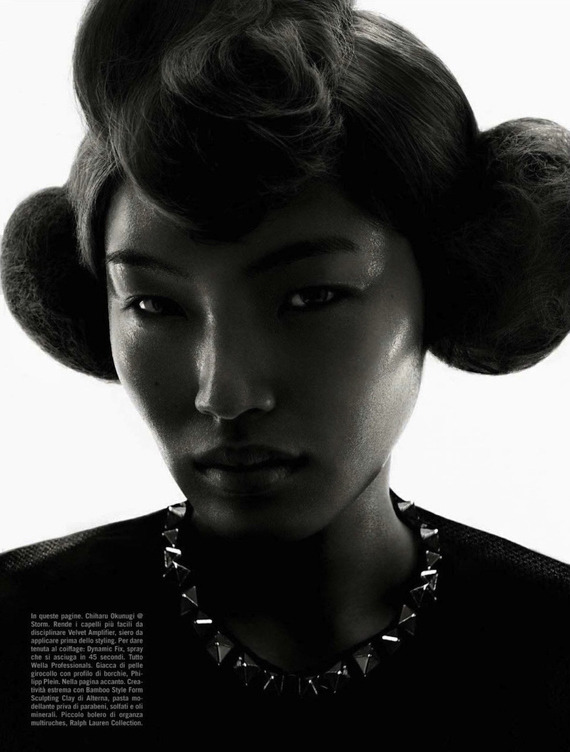 blackfashion:  Chiharu Okunugi for Vogue Italia April 2013