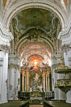 Braunau in Rohr Abbey, Bavaria, built by Egid Quirin Asam (1692-1750) (by rotraud_71)