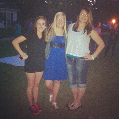 Me, @fnicole23 , and Morgan at Bryan's candle lighting.