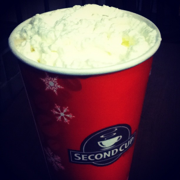 ❄☕ Toasted Marshmallow Latte • Second Cup , #yum! #cozy #latte #love #smile  (at Chinook Centre)