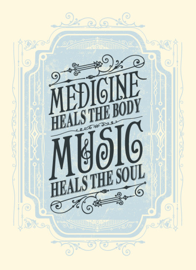 robynsmorgue:  (via Status Serigraph — Music Heals the Soul Art Print)