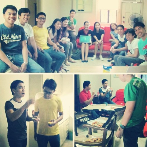 IE Club Externals Pre-Plansem! Bonding + planning + games + 6 boxes of pizza HAHAHA (at Loyola Heights Condominium)