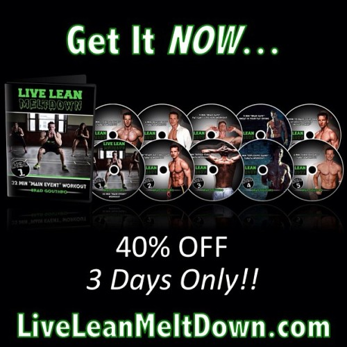 Live Lean Meltdown now available at 40% off. Launched 10 hours ago and already getting positive testimonials! Love my Live Leaners! #fitness #workout #livelean #llmd #fitfluential #abs #meltFat #LoseFat #FatLoss #homeworkout #dvd #JessRocks