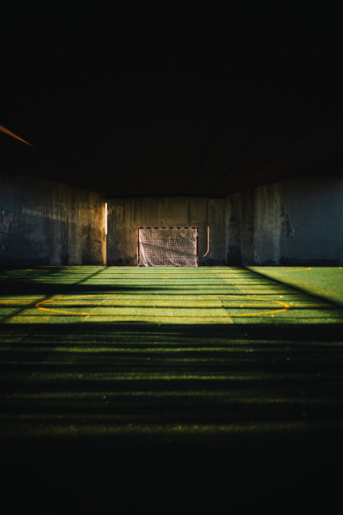 Soccer field under a bridge, Barcelona. http://www.betoruizalonso.com/