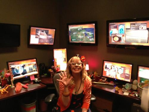 "Kirsten @Vangsness AKA Garcia on the set of #CriminalMinds 8x23, ""Brothers Hotchner""."