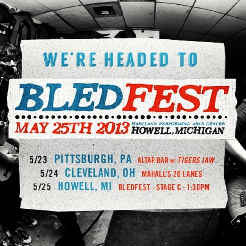 AW Band is headed to @Bledfest on 5/25 in Howell MI! Come see us along the way in Pittsburgh and Cleveland! #rawk