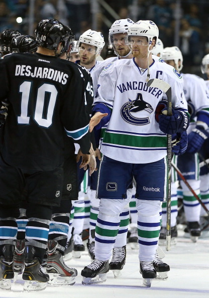 fuckyeahhockeybamfs:  The handshake is the best - and hardest - thing about a series.
