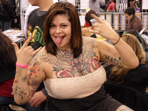 Big chest work. Body Art Expo, Pomona, CA, January 2013.