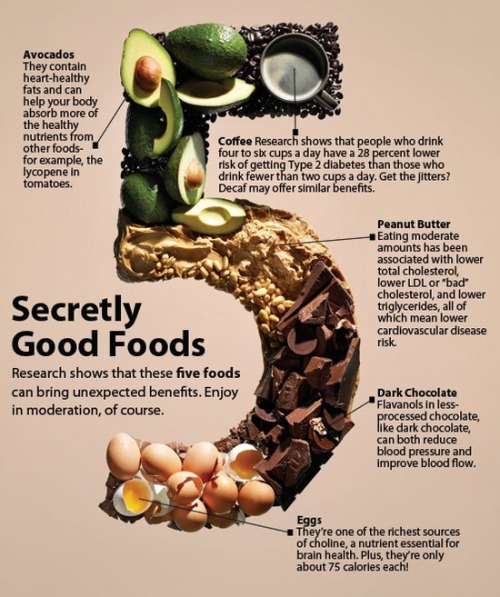 5 (secretly?) good foods. Yum!