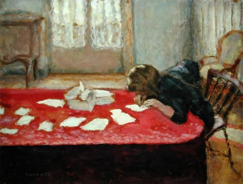 dappledwithshadow:  Girl Writing, Pierre Bonnard