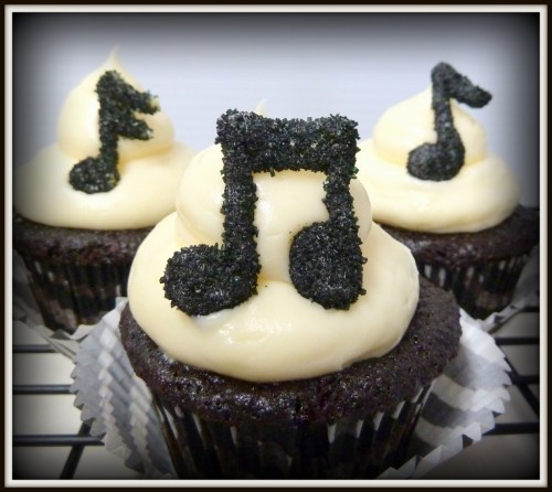 the-cupcakerie:  Chocolate Musical Cupcakes Recipe
