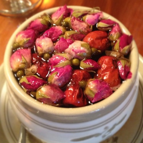 Rose date tea (at Pure City Healthy Vegetarian Restaurant)