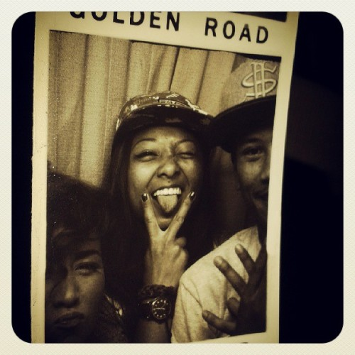 Photobooth!! @ariellelailani @edubjosh  (at Golden Road Brewing)