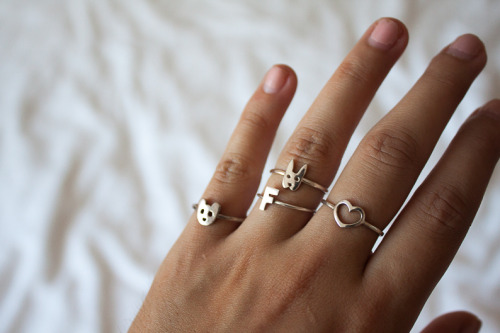 what-do-i-wear:  Three Karen Walker rings and 'F' ring gifted from Stylecult. Sometimes it's the little things (image: opinionslave)