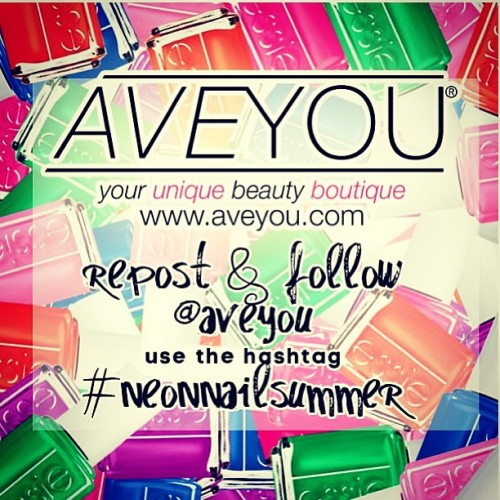 @aveyou is giving away the new Essie neon collection! Follow them and repost to enter! #neonnailsummer