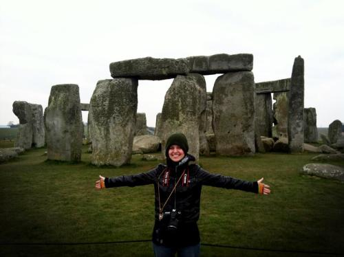 thedkdude:  A cold Dodger at Stonehenge