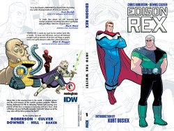 Today is the final order cutoff for the Edison Rex Trade Paperback (Diamond Code APR130377)  Above is the full trade dress designed by John J. Hill, illustrated by me and colored by Stephen Downer. We got some great quotes for the book by Mark Waid, Elliot S! Maggin, and an awesome introduction by Kurt Busiek (!!!) Want to know more? Check out this interview I did with Tim O'Shea at Robot 6: http://robot6.comicbookresources.com/2013/04/talking-comics-with-tim-dennis-culver-on-edison-rex/  We talk about how the book came together and get into the nitty gritty of some of the design I put into the book. Check it out!