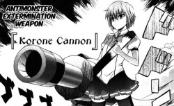 """Antimonster Extermination Weapon ⌈Korone Cannon⌋"" Korone (Ichiban Ushiro no Daimaou) [read manga]"