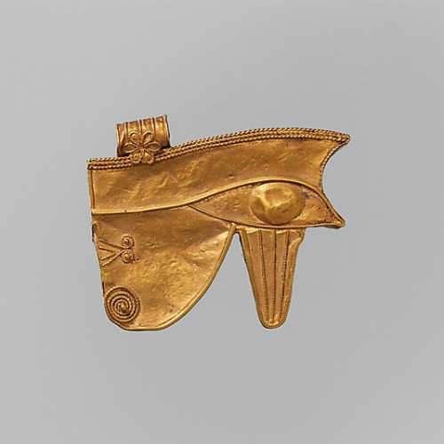 gold Wedjat Eye Amulet Egypt