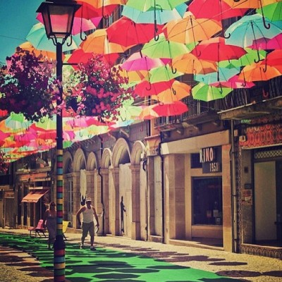Umbrella St. in Portugal!! I wanna go! (at My Life)