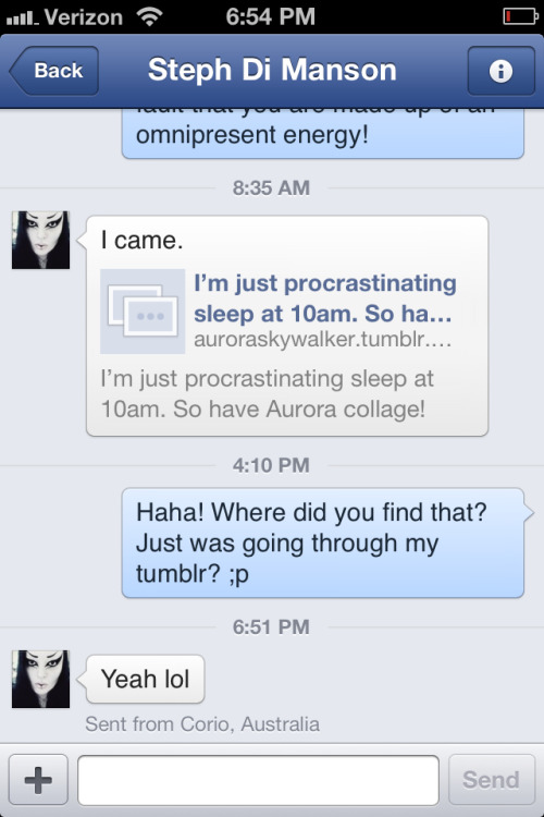 auroraskywalker:  Lol I loves her! <3 my little love bucket stalker  i love you more, i am the stalker ? REALLY  lol