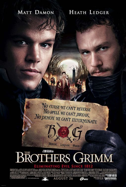 "2013 Movie Challenge 165. The Brothers Grimm (2005, Terry Gilliam) I wonder how many times they say ""beans"" in this movie… I miss Heath Ledger. Also…Cersei!"
