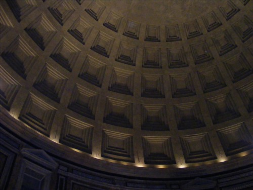 Inside the magnificent Pantheon.
