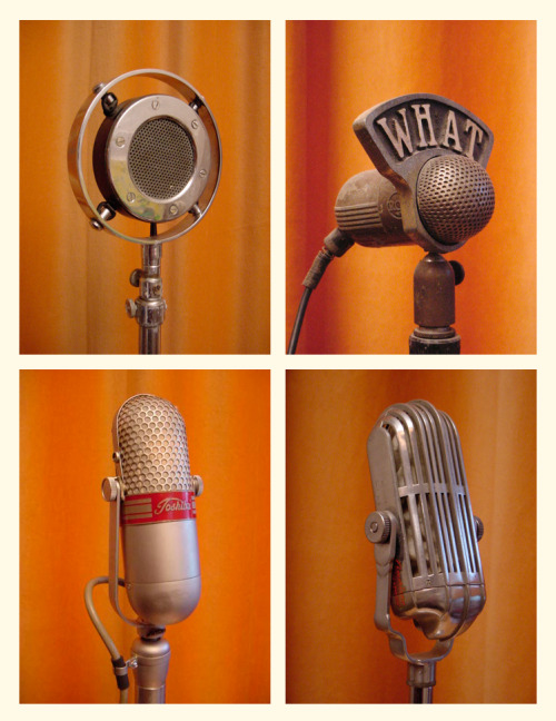 readerscorner:  Microphones from The Vintage Microphone Gallery