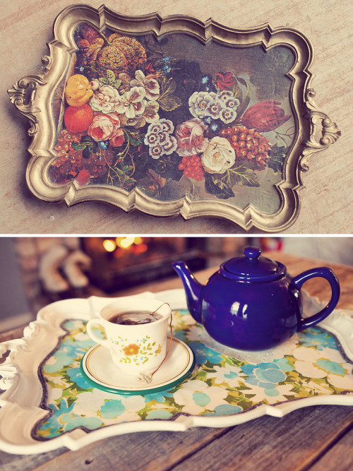 vintage tray - restyled. (by Indie Jane)