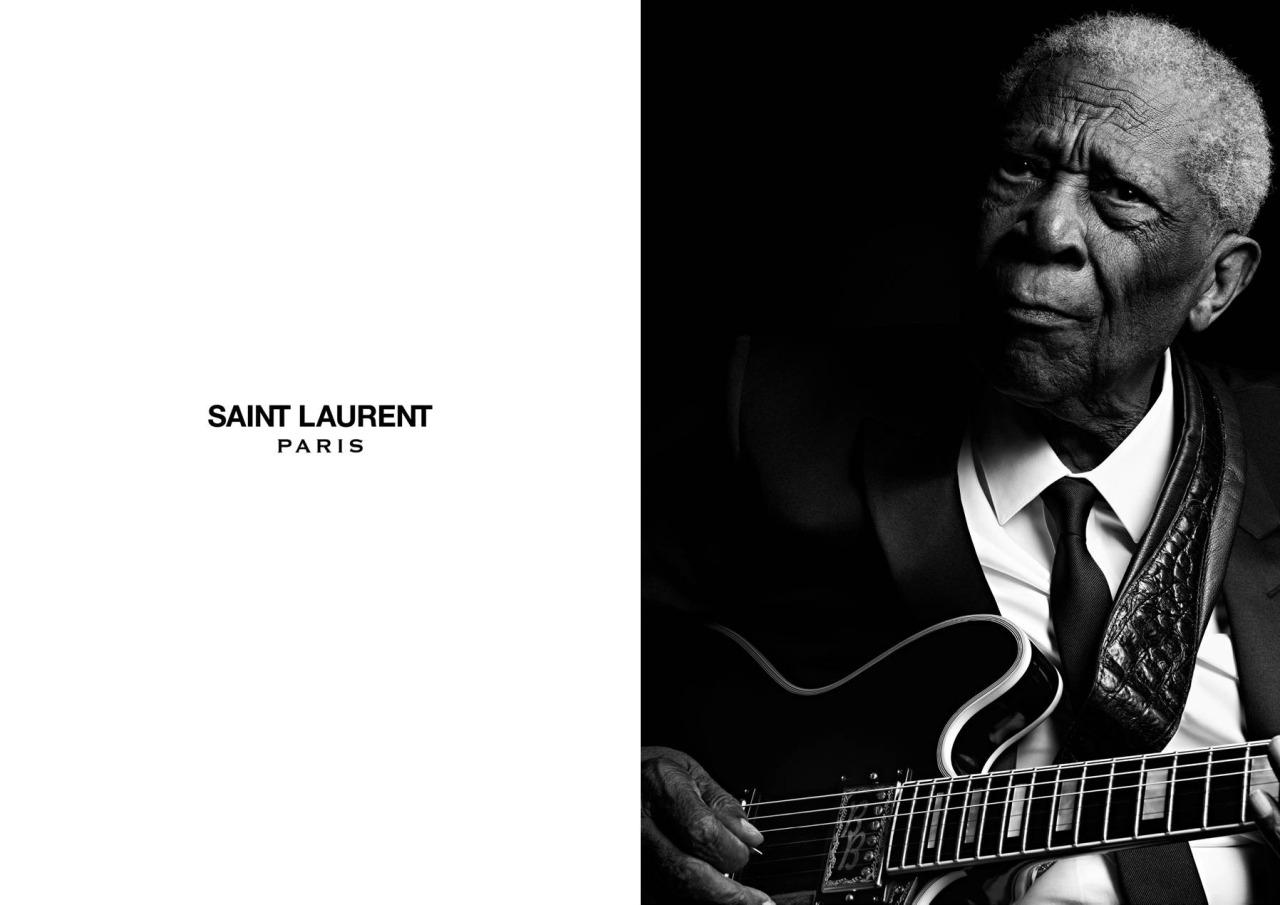 B.B. King in Las Vegas, Nevada for the Saint Laurent Music Project, viai-donline(@ID_Magazine)